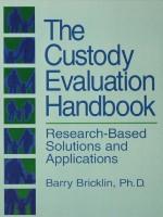 """The Custody Evaluation Handbook"" (9781134863457)"