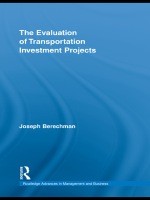 """The Evaluation of Transportation Investment Projects"" (9781135214074)"