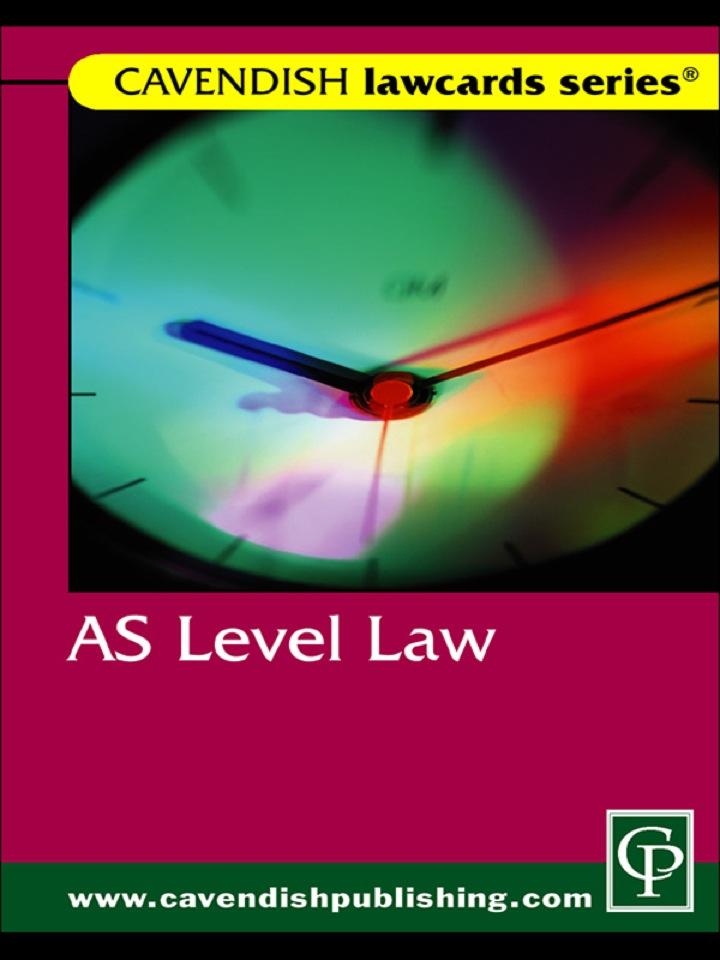 Cavendish: AS Level Lawcard
