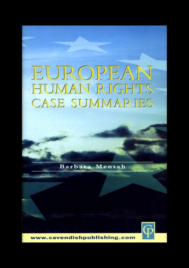European Human Rights Case Summaries