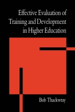 """The Effective Evaluation of Training and Development in Higher Education"" (9781135364779)"