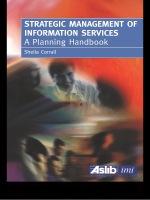 """Strategic Management of Information Services"" (9781135477486)"