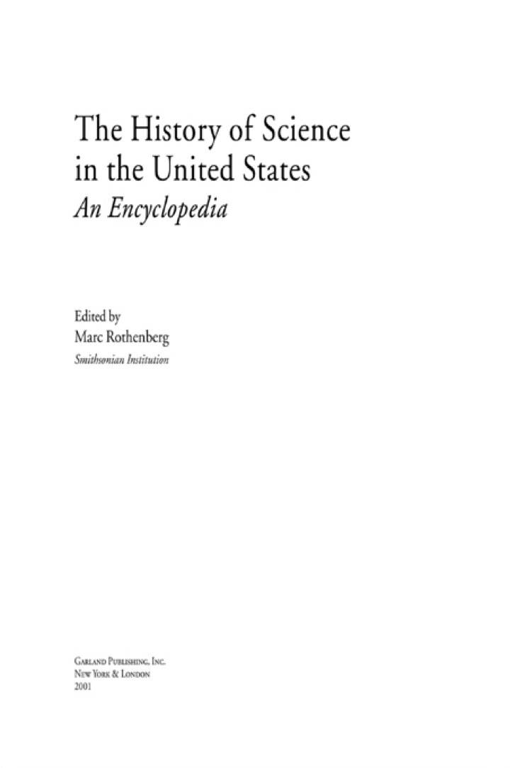 History of Science in United States