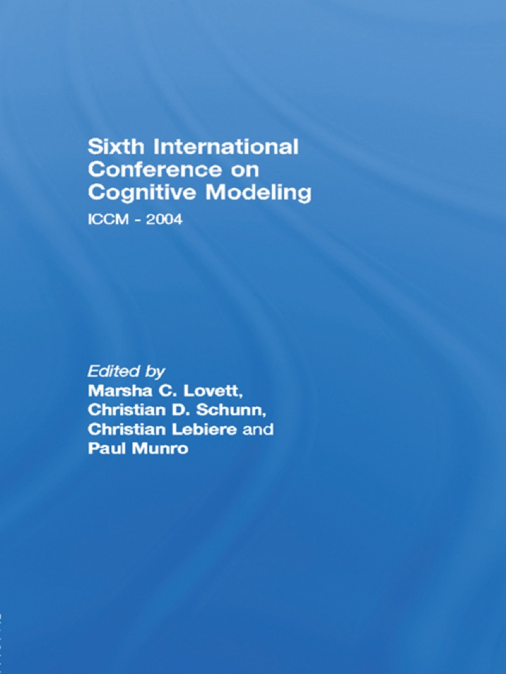 Sixth International Conference on Cognitive Modeling