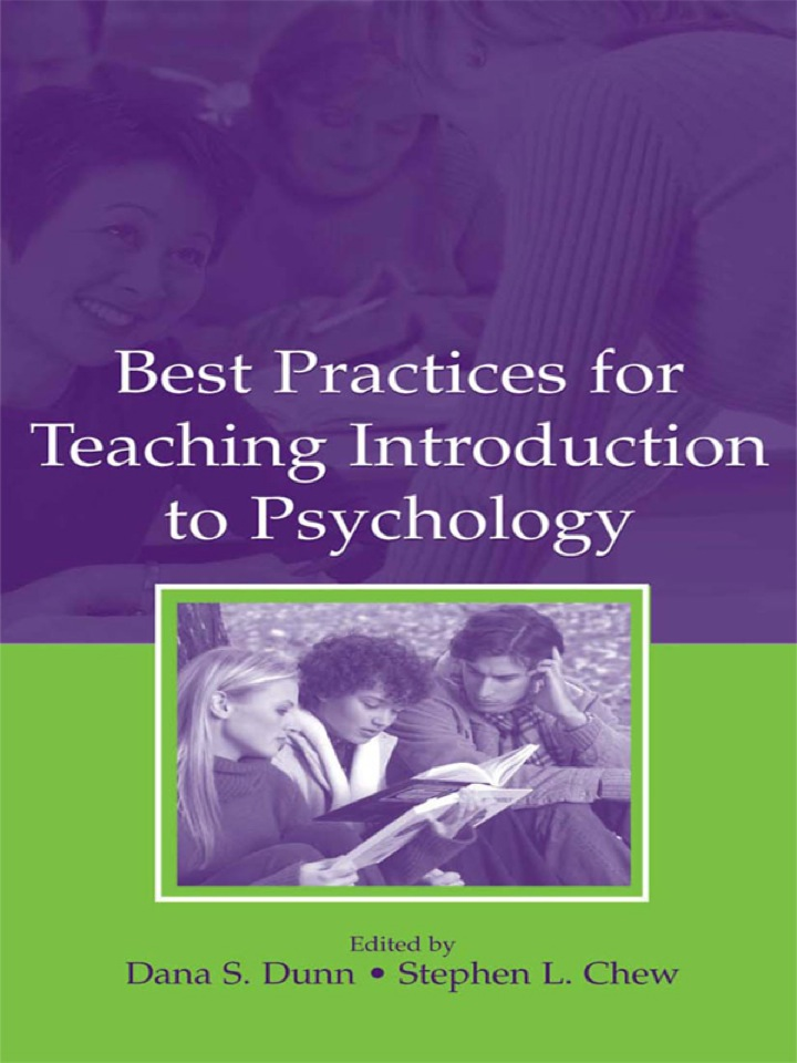 Best Practices for Teaching Introduction to Psychology