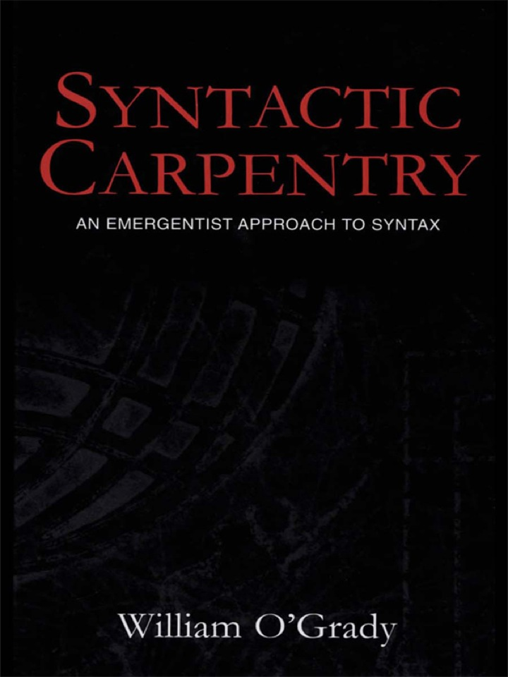 Syntactic Carpentry