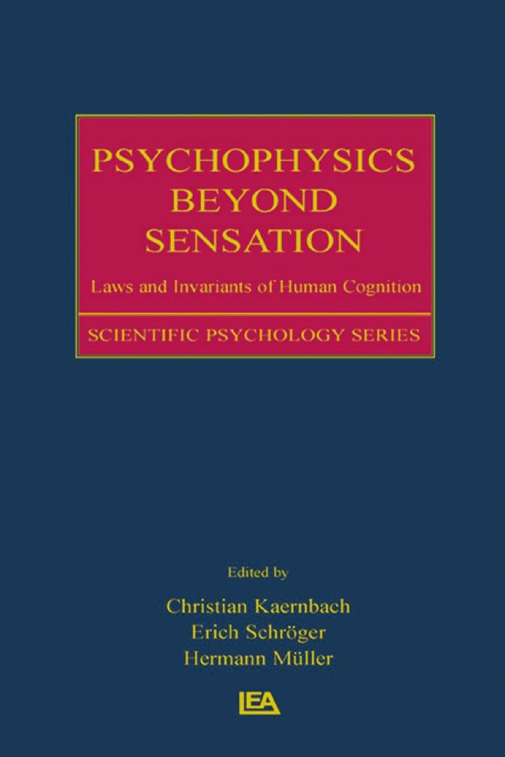 Psychophysics Beyond Sensation