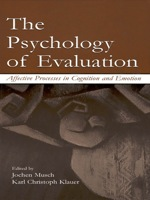 """""""The Psychology of Evaluation"""" (9781135640583)"""