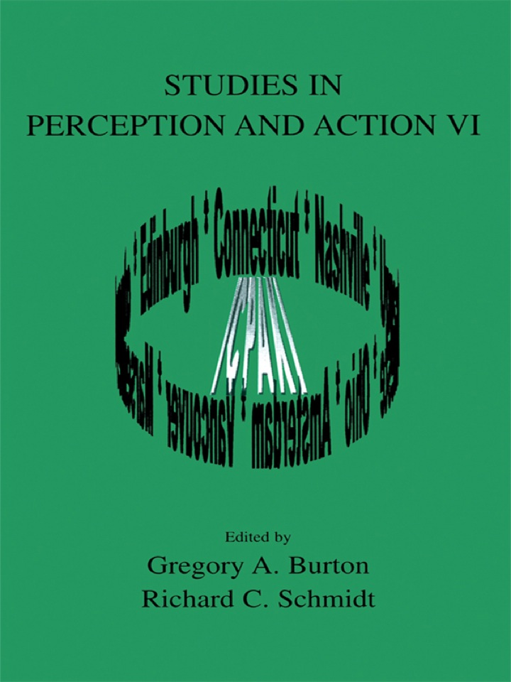 Studies in Perception and Action VI