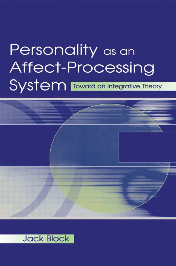 Personality as an Affect-processing System