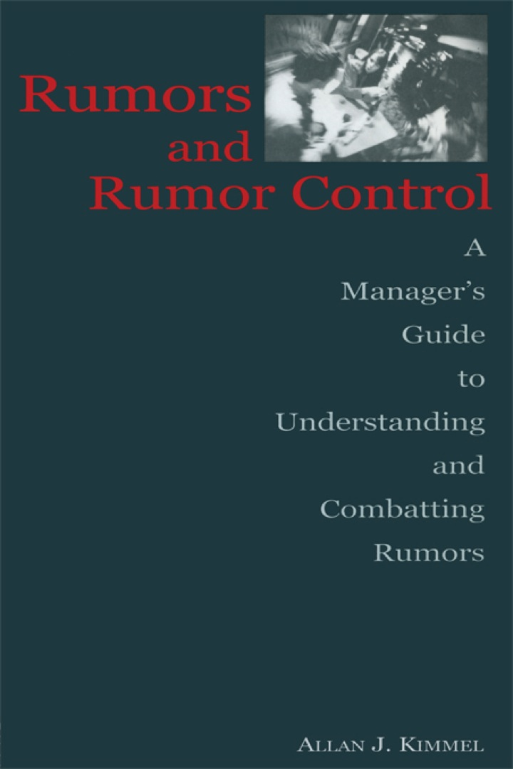 Rumors and Rumor Control