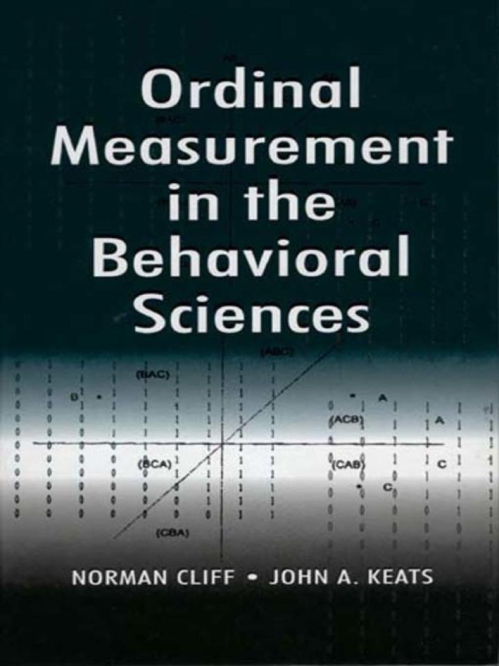 Ordinal Measurement in the Behavioral Sciences