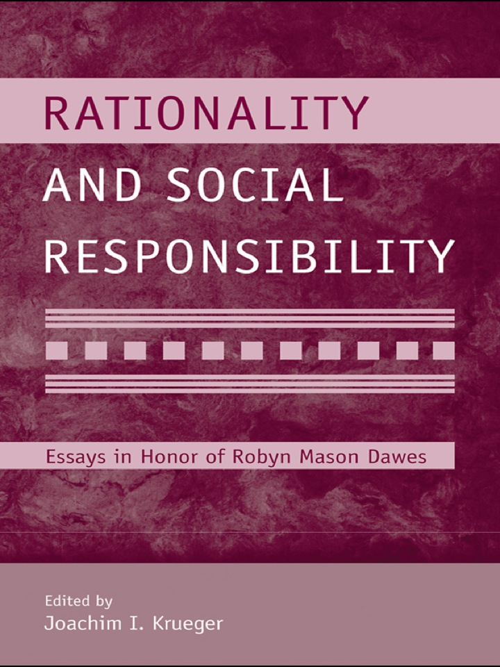 Rationality and Social Responsibility