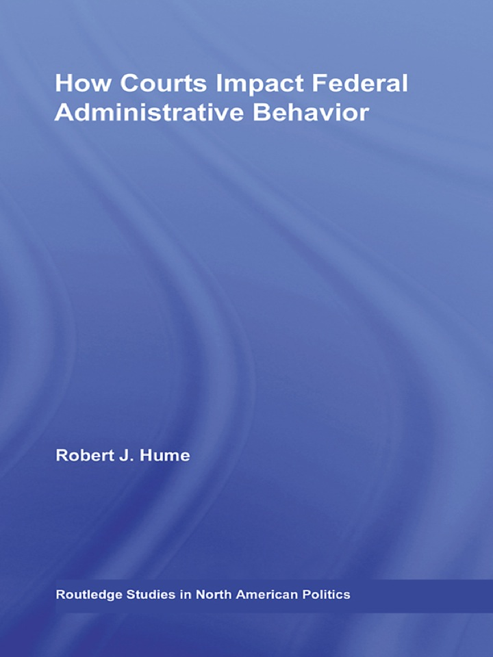 How Courts Impact Federal Administrative Behavior