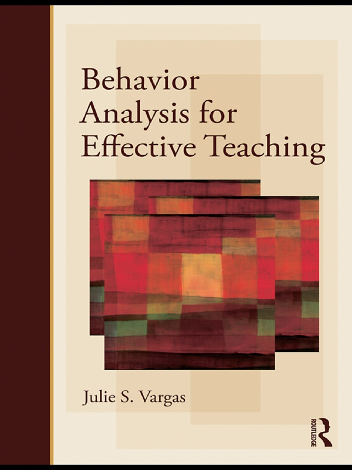 Applied Behavior Analysis for Effective Teaching