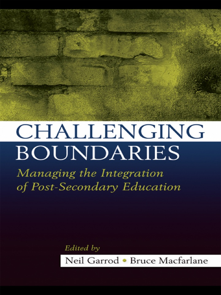 Challenging Boundaries