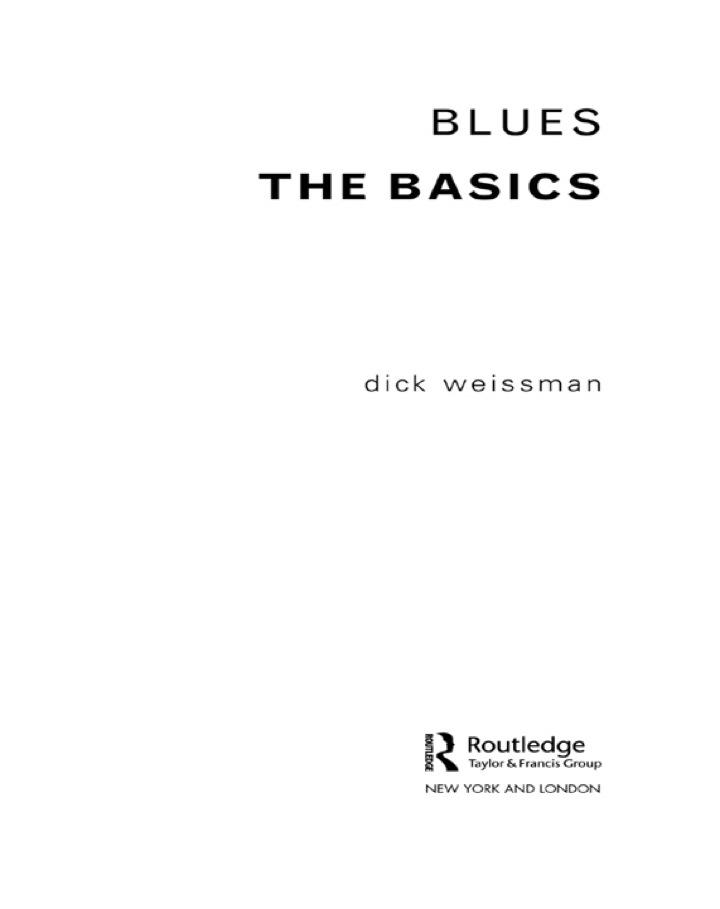 Blues: The Basics