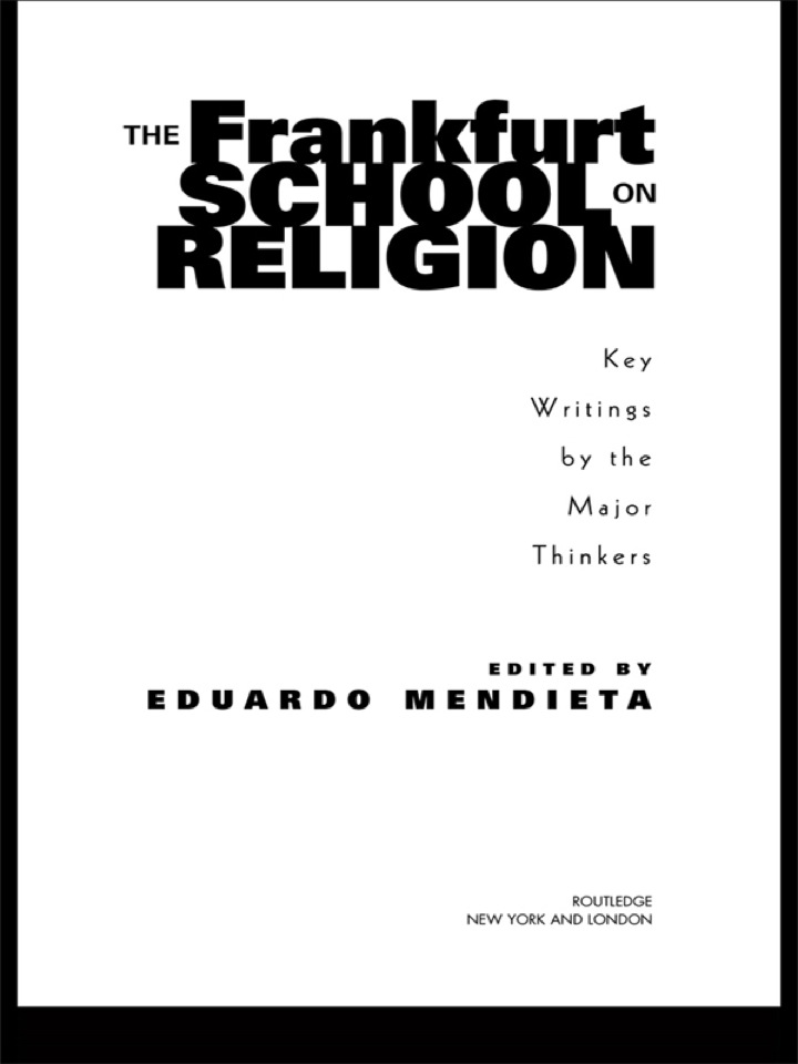 The Frankfurt School on Religion