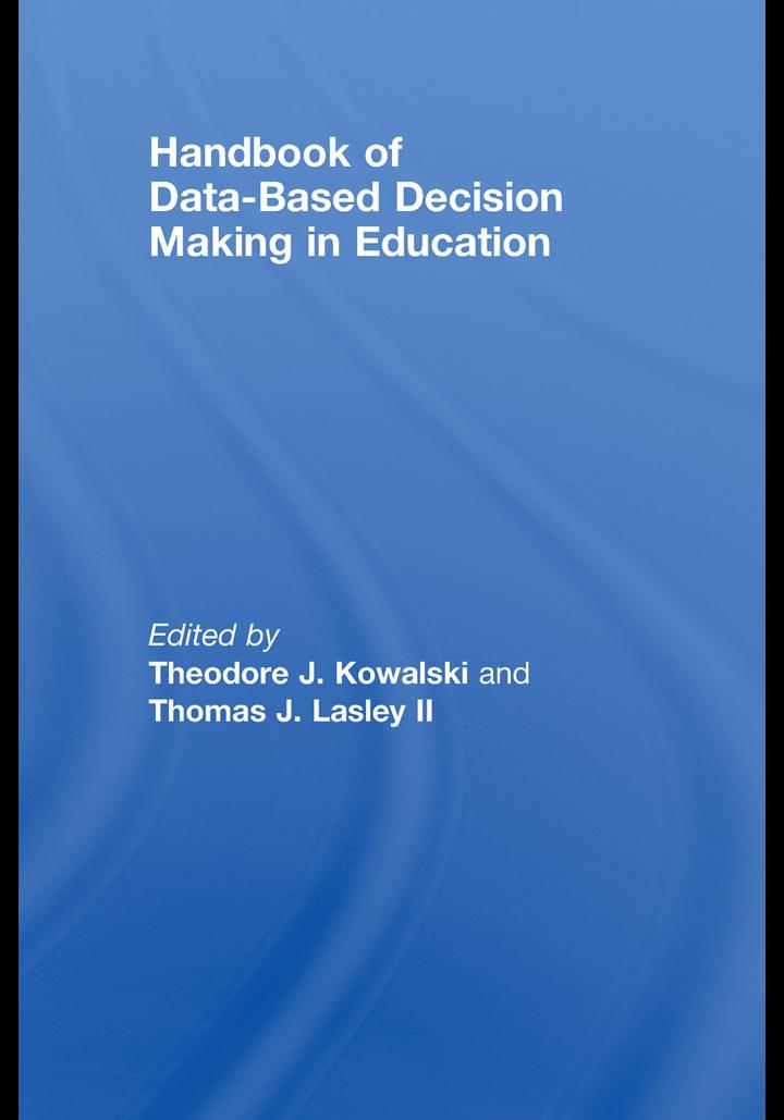 Handbook of Data-Based Decision Making in Education