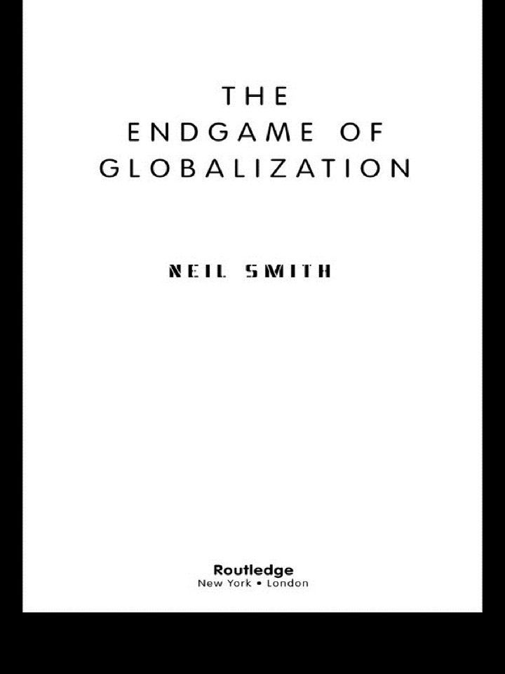 The Endgame of Globalization