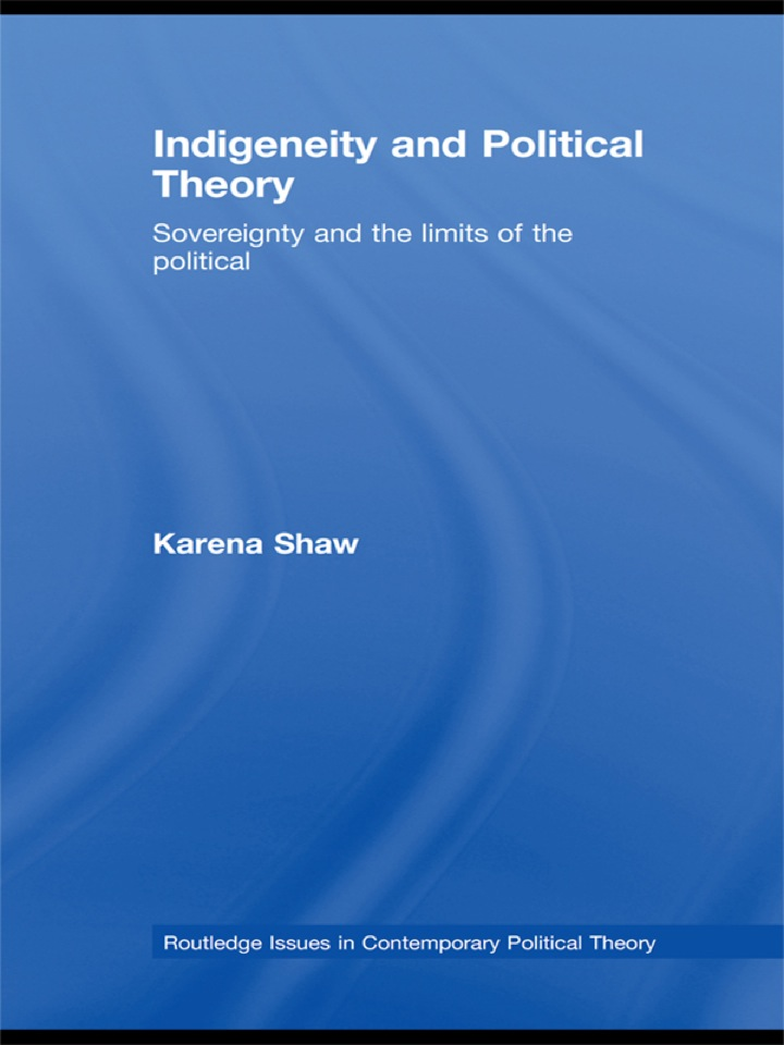 Indigeneity and Political Theory