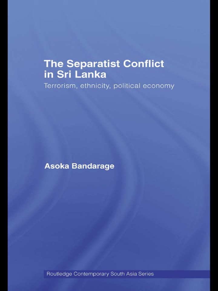 The Separatist Conflict in Sri Lanka