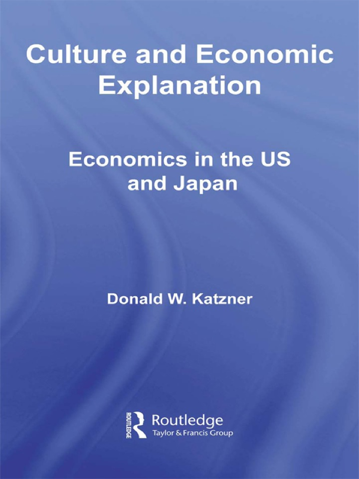 Culture and Economic Explanation