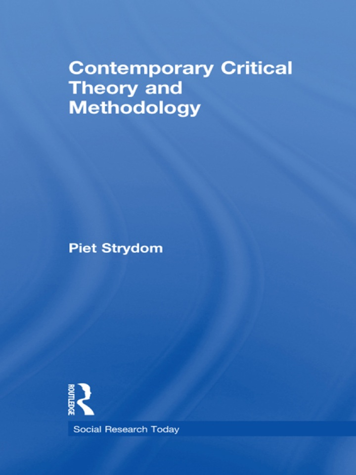 Contemporary Critical Theory and Methodology