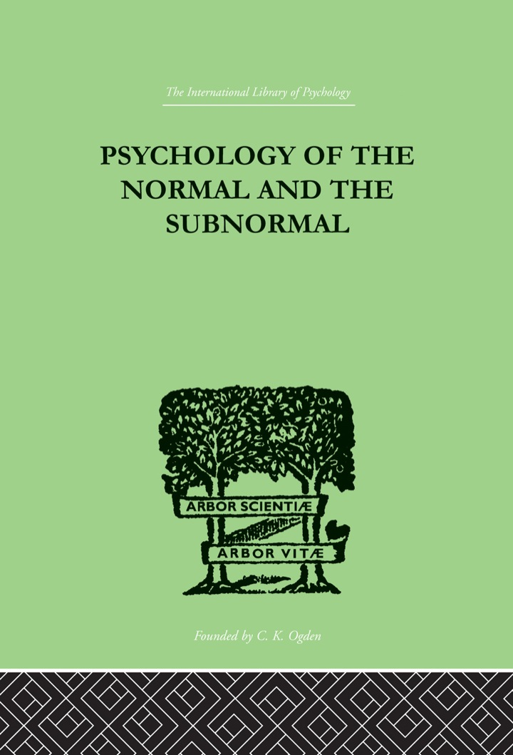 Psychology Of The Normal And The Subnormal