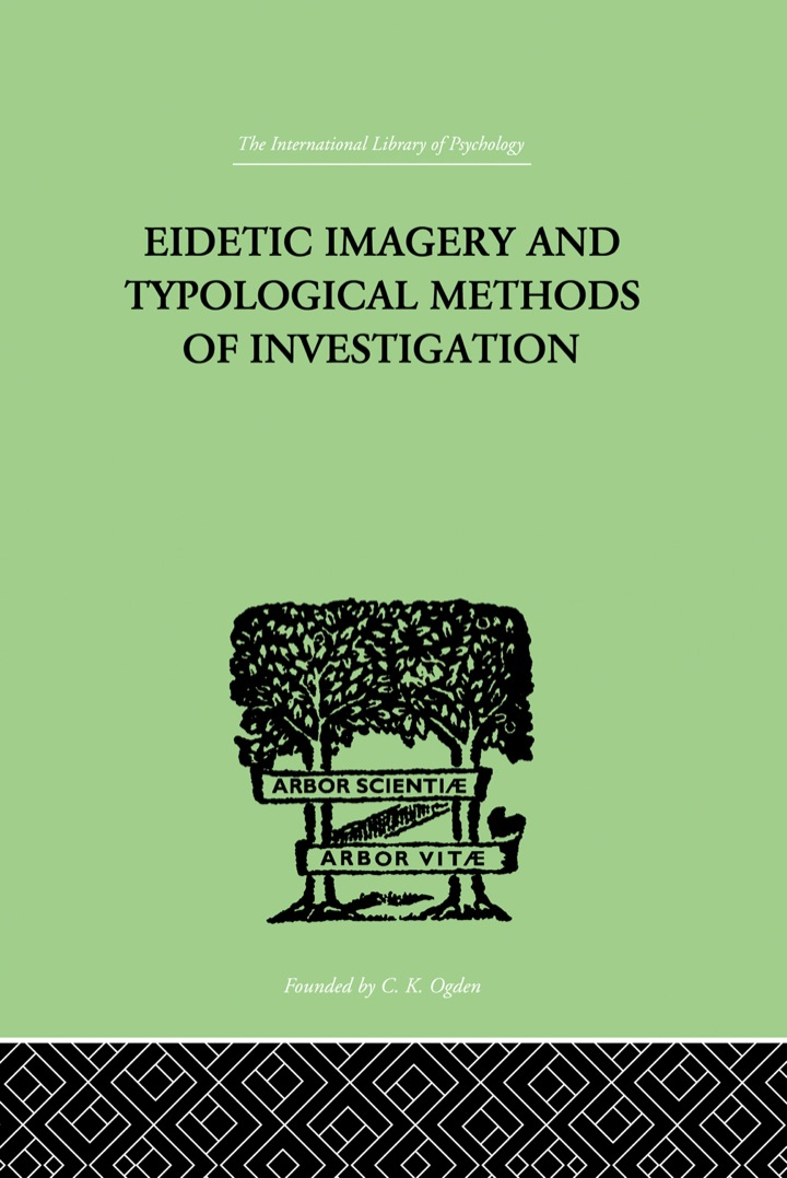 EIDETIC IMAGERY and Typological Methods of Investigation
