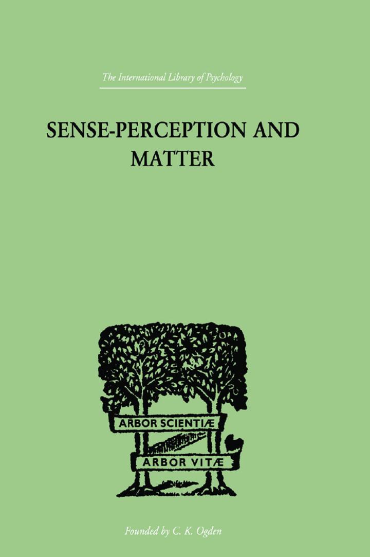 Sense-Perception And Matter