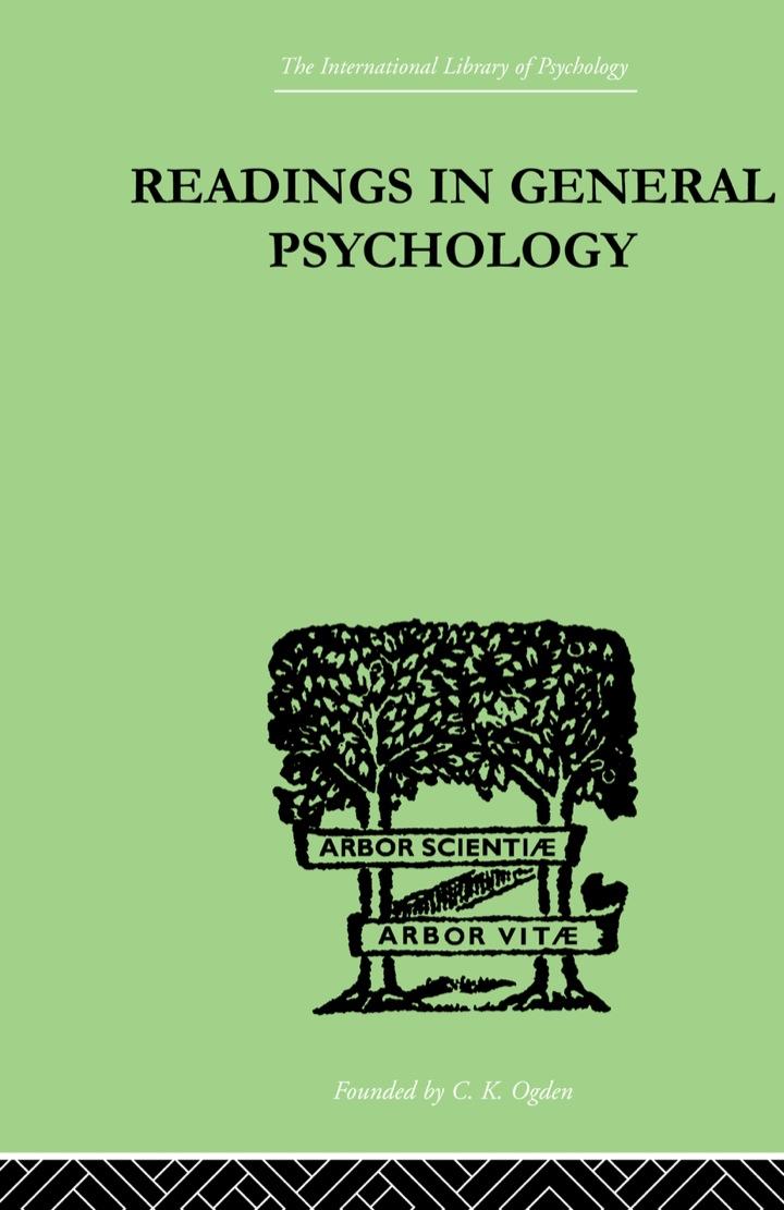 Readings In General Psychology