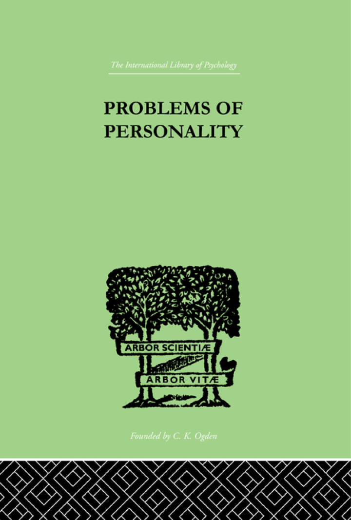 Problems of Personality