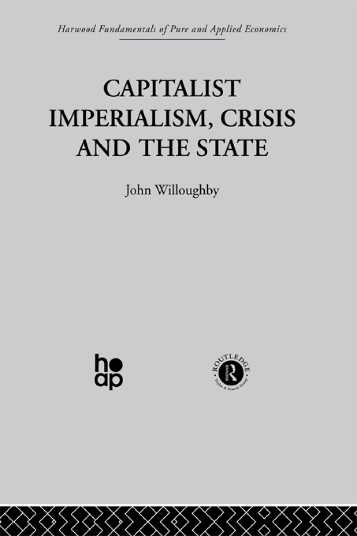 Capitalist Imperialism, Crisis and the State