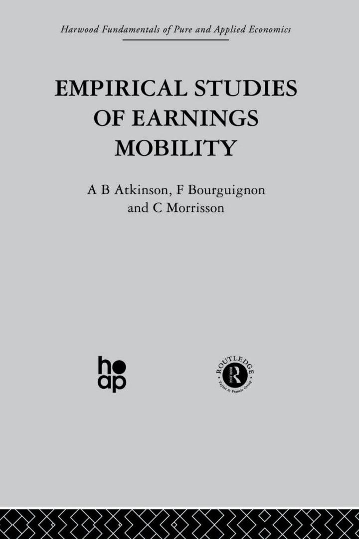 Empirical Studies of Earnings Mobility
