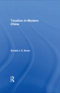 Taxation in Modern China 9781136678929R90