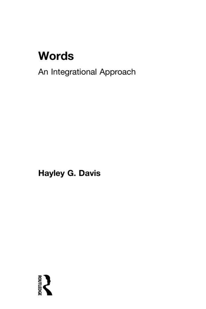 Words - An Integrational Approach