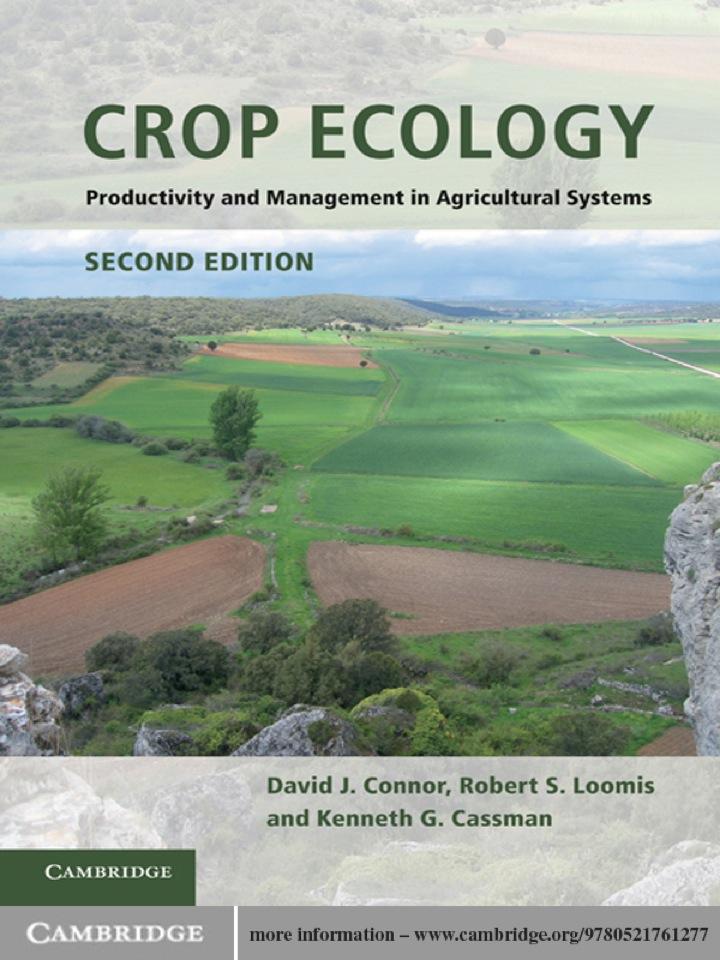 Crop Ecology