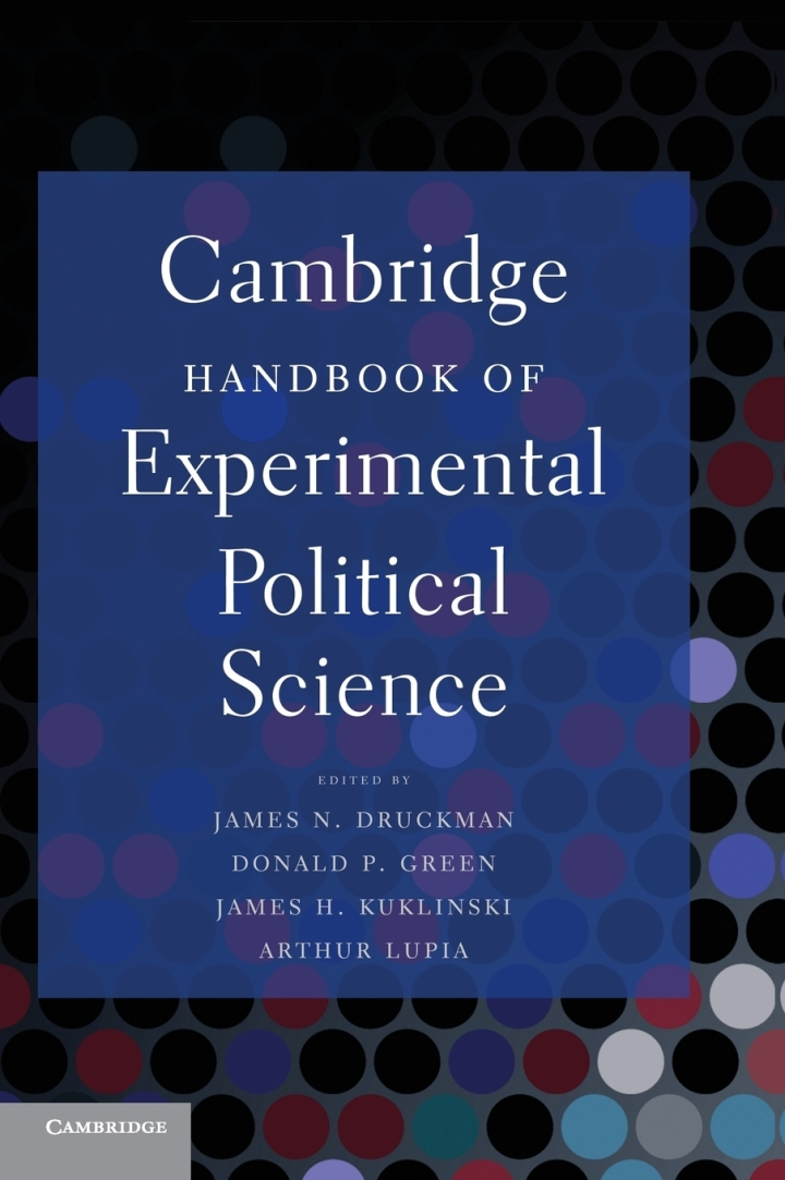Cambridge Handbook of Experimental Political Science