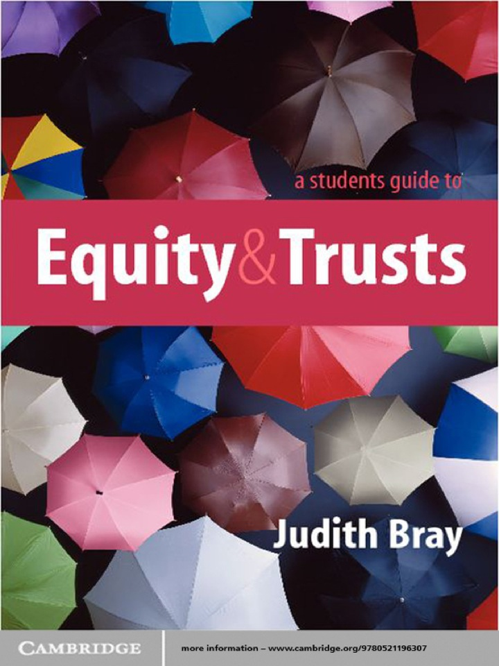 A Student's Guide to Equity and Trusts