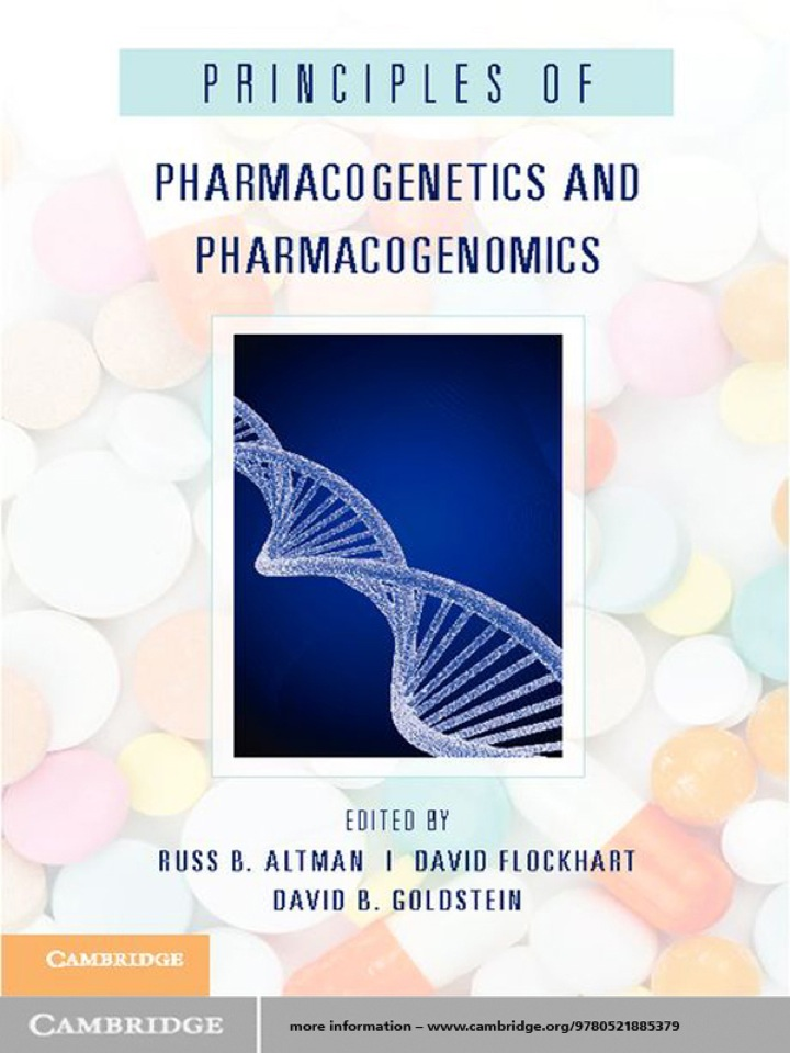Principles of Pharmacogenetics and Pharmacogenomics