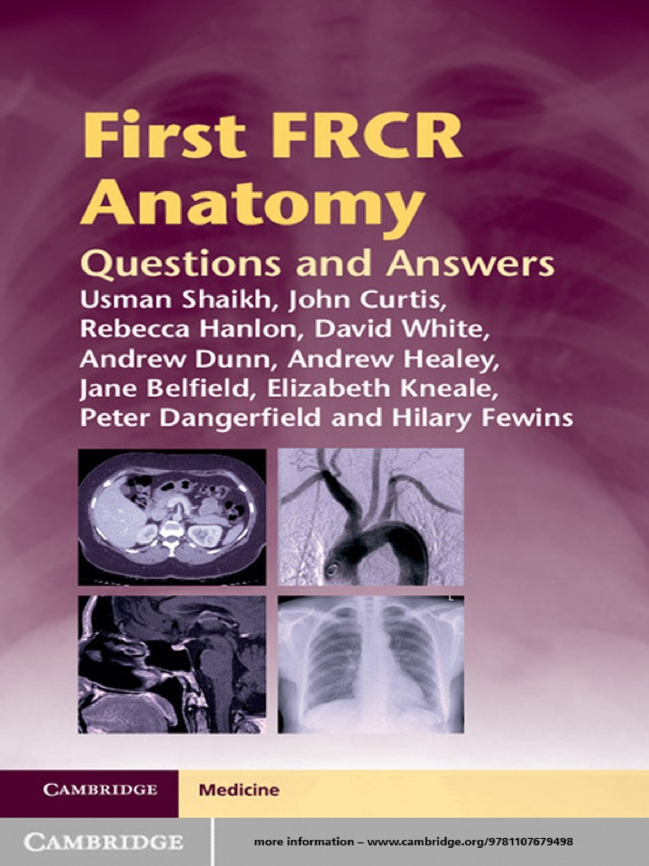 First FRCR Anatomy
