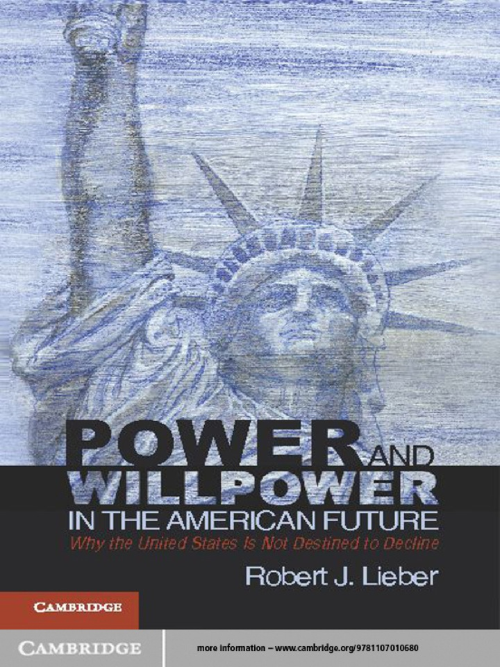 Power and Willpower in the American Future