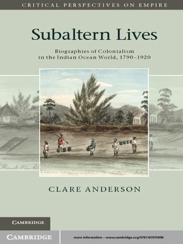 Subaltern Lives
