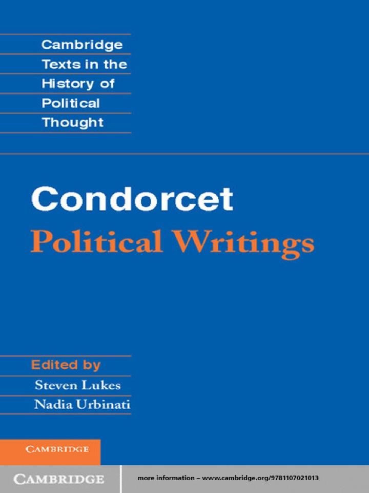 Condorcet: Political Writings