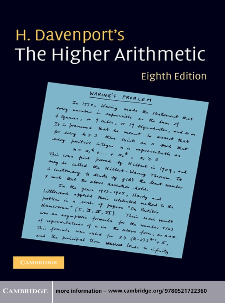 The Higher Arithmetic