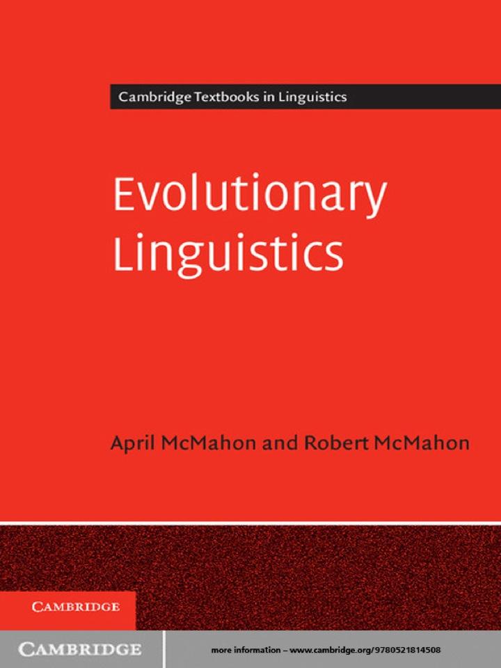 Evolutionary Linguistics