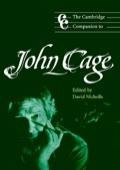 The Cambridge Companion to John Cage 9781139797221