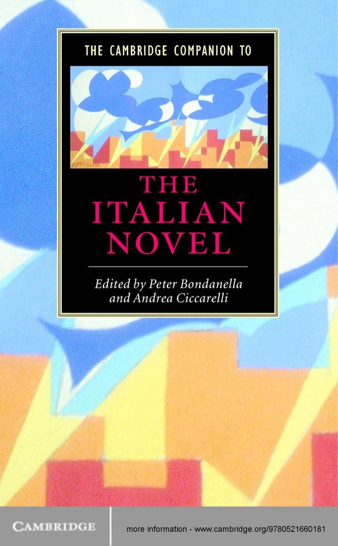 The Cambridge Companion to the Italian Novel