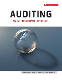 Auditing AN INTERNATIONAL APPROACH, 8th Canadian Edition [Wally Smieliauskas]